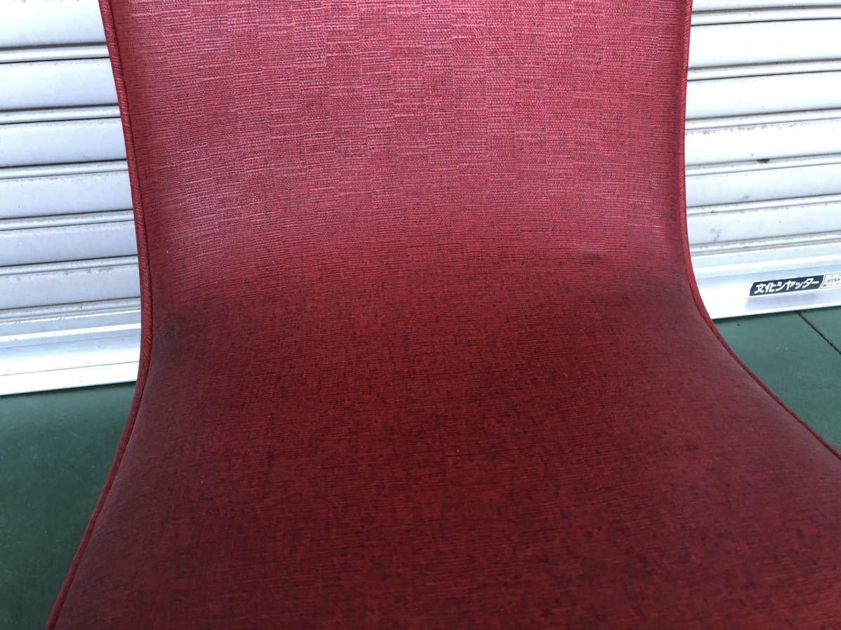 ■昭和レトロ当時物貴重!!!!赤レッド色お洒落オシャレデザイン椅子いすイス☆アンティーク_画像4