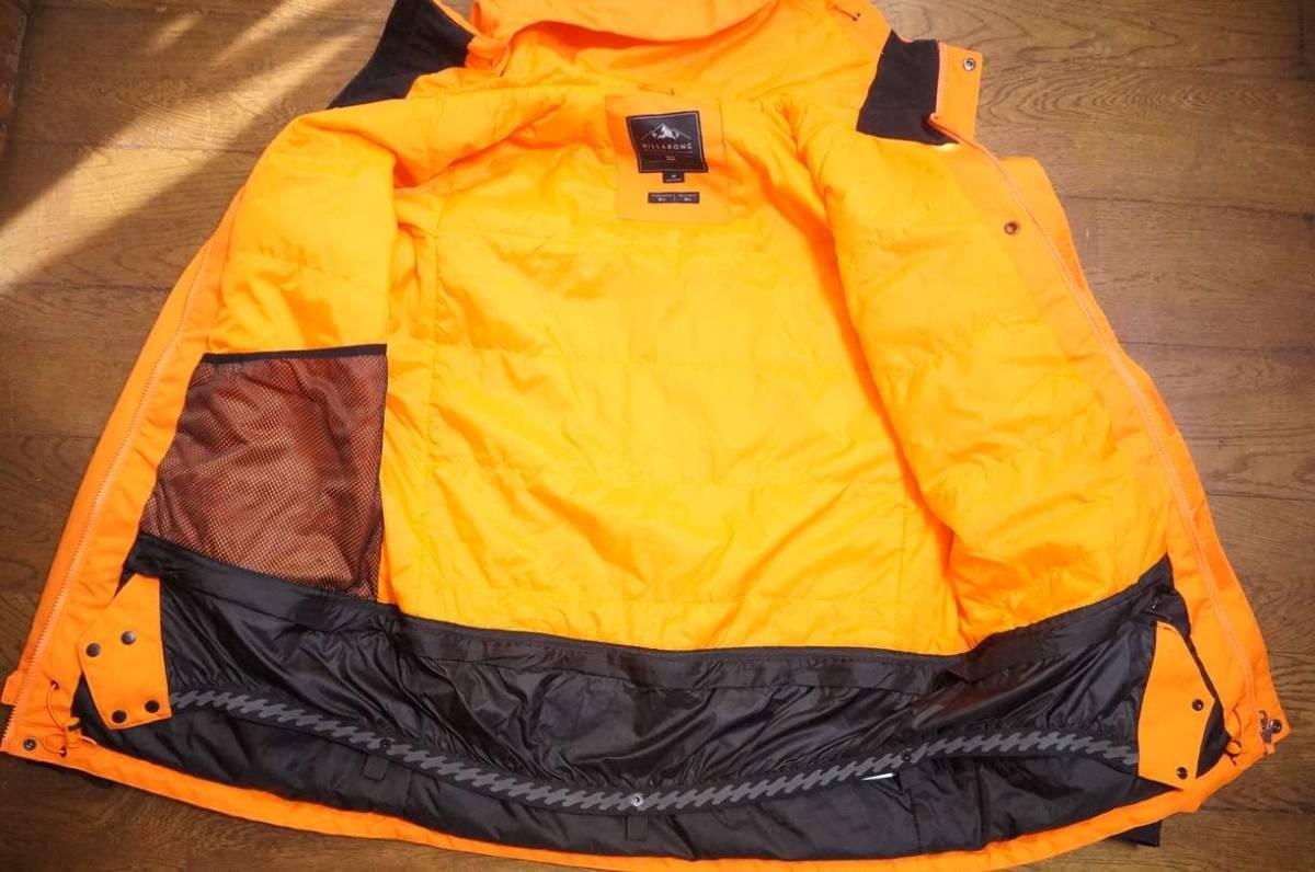 男性用 Billabong ビラボン スノーボードウエア ワーキングジャケット F6JM07 + Billabong ローダウンパンツ F6PM01 上下セット中古美品_画像4
