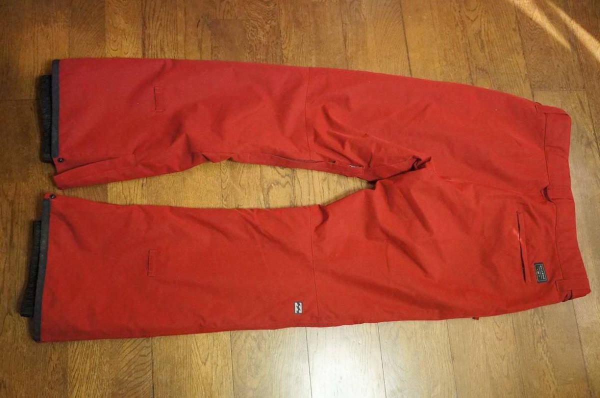 男性用 Billabong ビラボン スノーボードウエア ワーキングジャケット F6JM07 + Billabong ローダウンパンツ F6PM01 上下セット中古美品_画像6