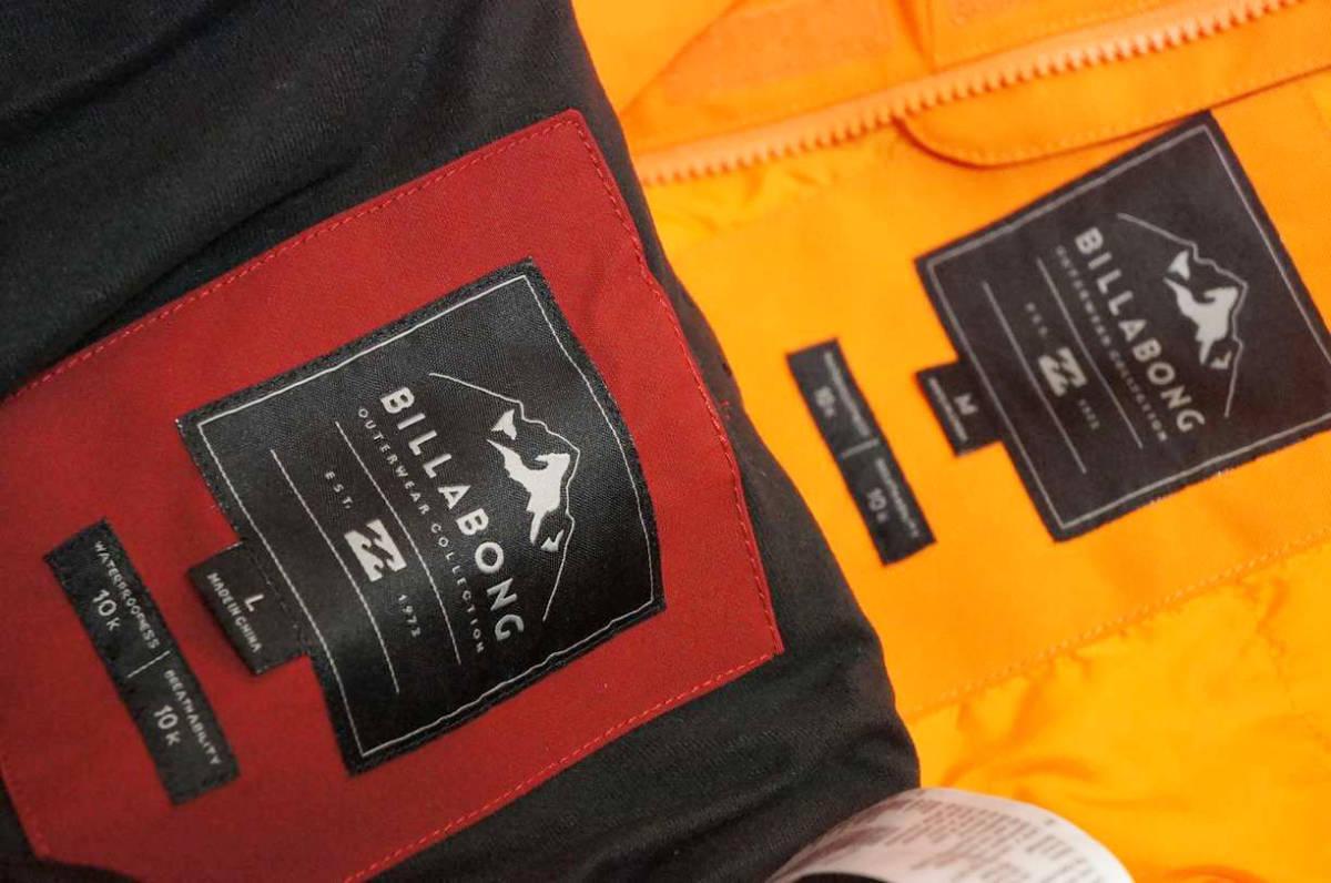 男性用 Billabong ビラボン スノーボードウエア ワーキングジャケット F6JM07 + Billabong ローダウンパンツ F6PM01 上下セット中古美品_画像8