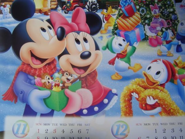 2020年DX大判disneyディズニーカレンダー非売品ミッキーマウスミニードナルドダックプルートグーフィー第一生命販売促進グッズデイジー_画像1