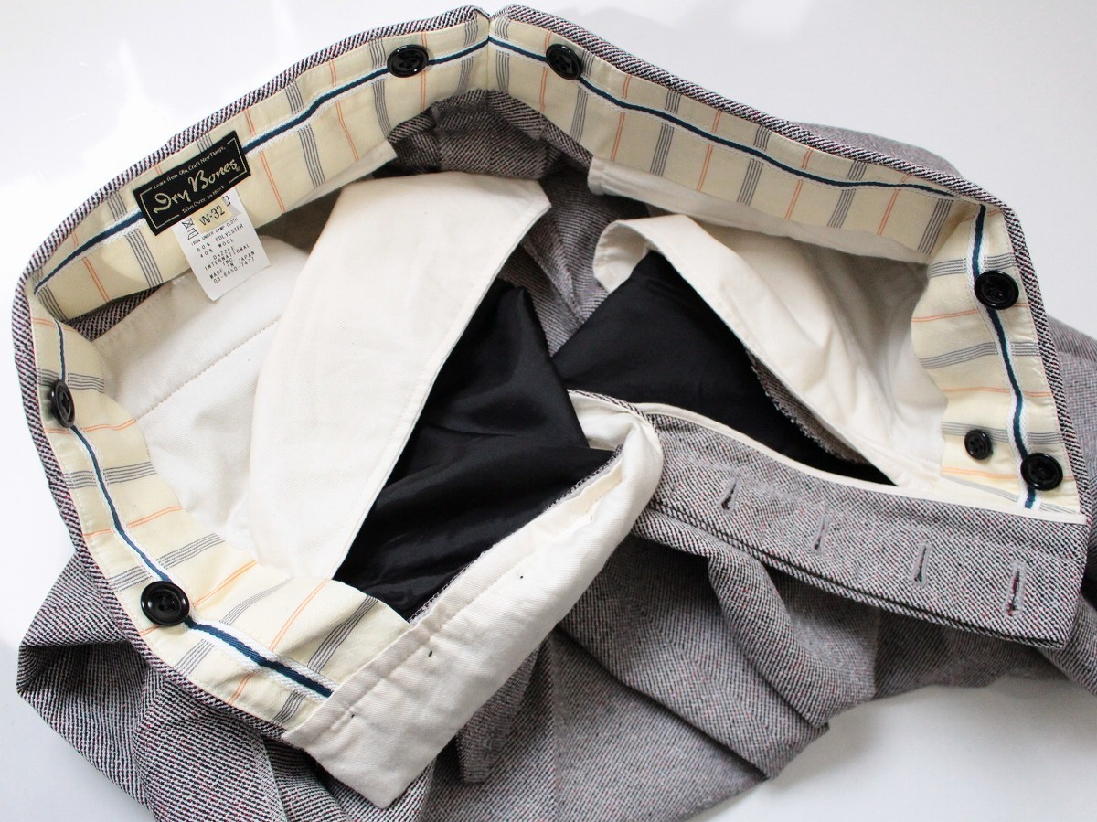ドライボーンズ Dry Bones ★ ポリエステル/ウール混紡 2タック トラウザー Two Tuck Trousers サイズ32 パンツ ロカビリー ★_画像4