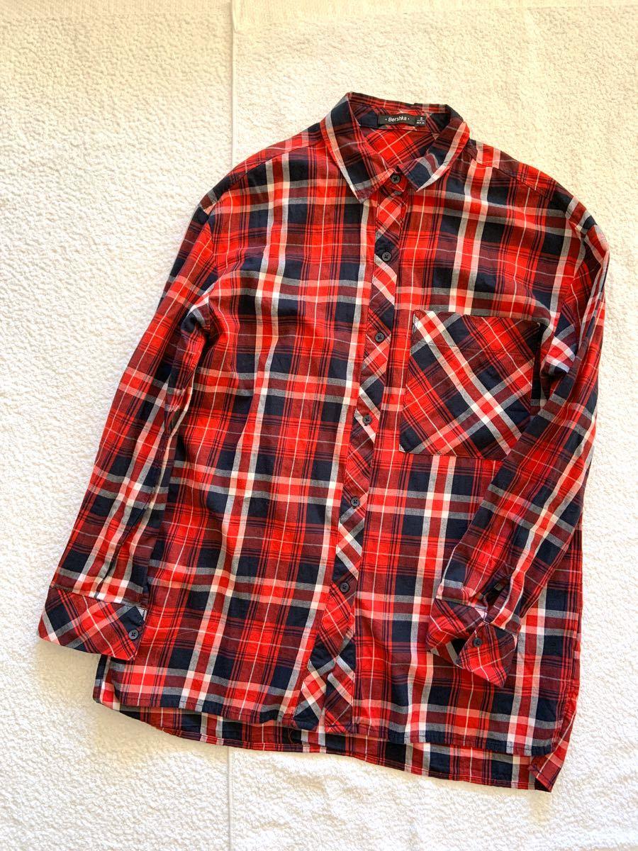 ベルシュカ 長袖シャツ ネルシャツ チェック柄 ザラ チェックシャツ