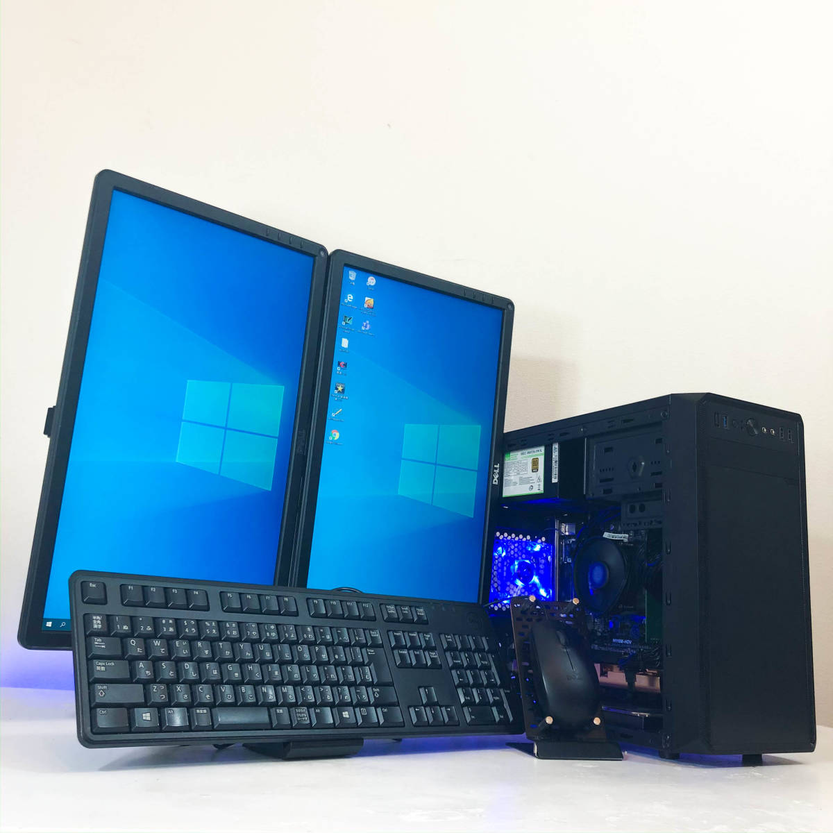 【極品2モニタ-セットゲーミングPC】i7-2600/FX/デイトレ/株/office2020/ストレージ5740G
