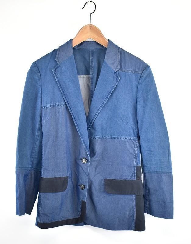 ACNE/アクネ シャンブレーパッチワークジャケット CINDY PATCH サイズ:34 カラー:ブルー 20n02_画像1
