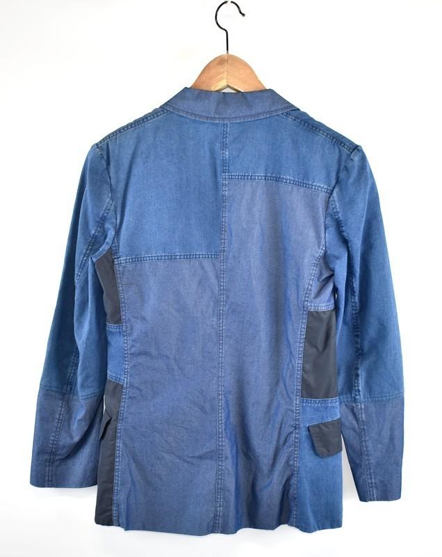 ACNE/アクネ シャンブレーパッチワークジャケット CINDY PATCH サイズ:34 カラー:ブルー 20n02_画像2