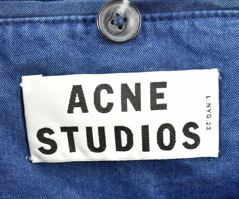 ACNE/アクネ シャンブレーパッチワークジャケット CINDY PATCH サイズ:34 カラー:ブルー 20n02_画像3
