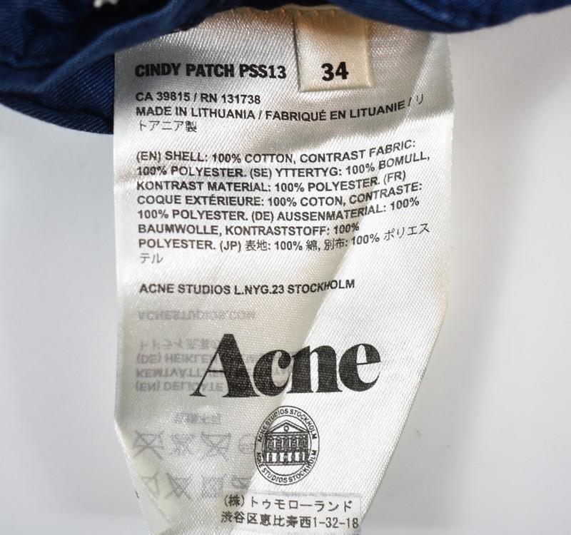 ACNE/アクネ シャンブレーパッチワークジャケット CINDY PATCH サイズ:34 カラー:ブルー 20n02_画像4