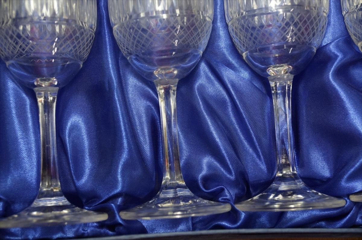 ★【新品・未使用】 高級切子 ワイングラス 透明  5客セット×15 75個 コップ  まとめて クリスタルガラス 大量在庫処分_画像9