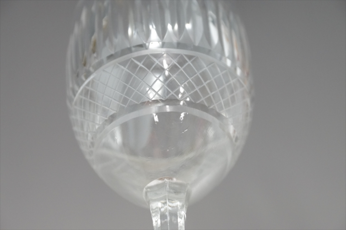 ★【新品・未使用】 高級切子 ワイングラス 透明  5客セット×15 75個 コップ  まとめて クリスタルガラス 大量在庫処分_画像5