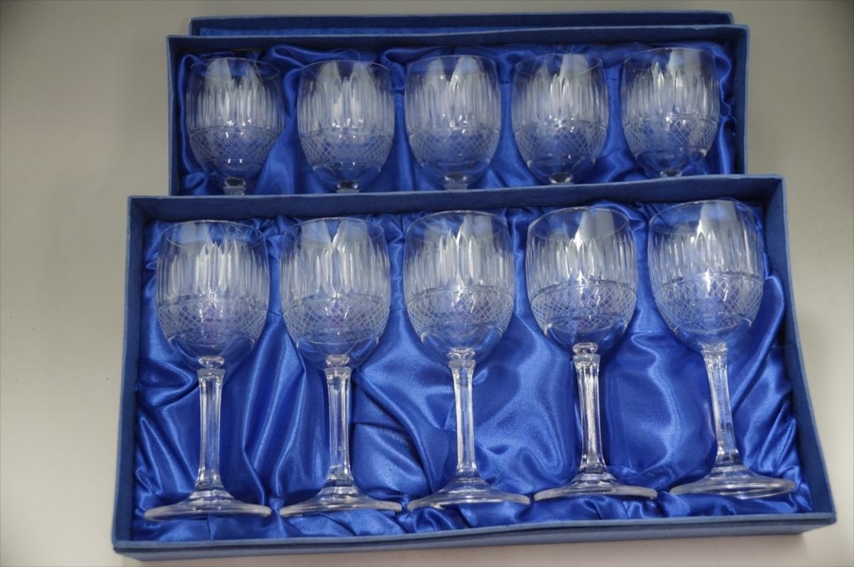★【新品・未使用】 高級切子 ワイングラス 透明  5客セット×15 75個 コップ  まとめて クリスタルガラス 大量在庫処分_画像10