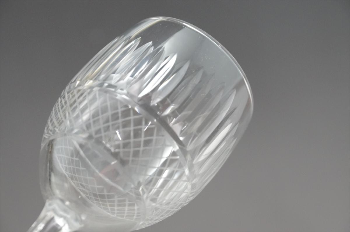 ★【新品・未使用】 高級切子 ワイングラス 透明  5客セット×15 75個 コップ  まとめて クリスタルガラス 大量在庫処分_画像4