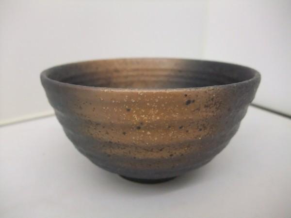 日本製 美濃焼  黒備前  飯碗   茶碗   かっこいい!!_画像1