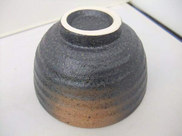 日本製 美濃焼  黒備前  飯碗   茶碗   かっこいい!!_画像5