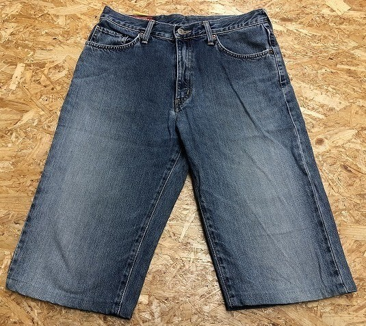 EDWIN US CLASSIC A-04 エドウィン W78 メンズ デニム ジーンズ ショートパンツ ハーフパンツ ショーツ ジップフライ 綿100% ブルー 青_画像1