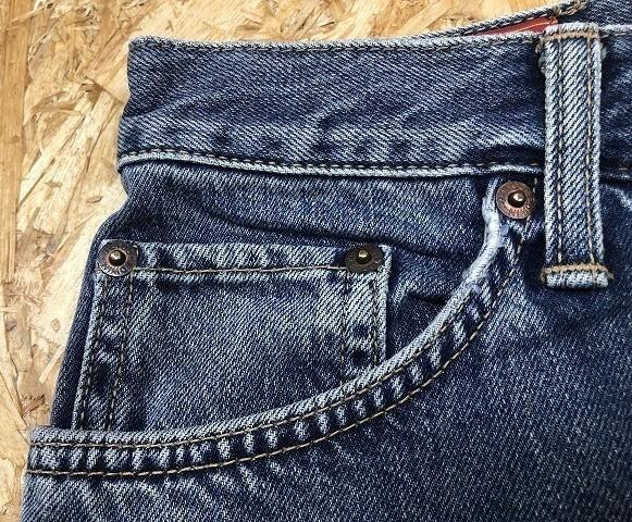 EDWIN US CLASSIC A-04 エドウィン W78 メンズ デニム ジーンズ ショートパンツ ハーフパンツ ショーツ ジップフライ 綿100% ブルー 青_画像3