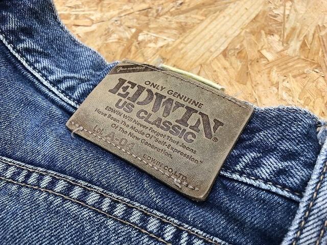 EDWIN US CLASSIC A-04 エドウィン W78 メンズ デニム ジーンズ ショートパンツ ハーフパンツ ショーツ ジップフライ 綿100% ブルー 青_画像2