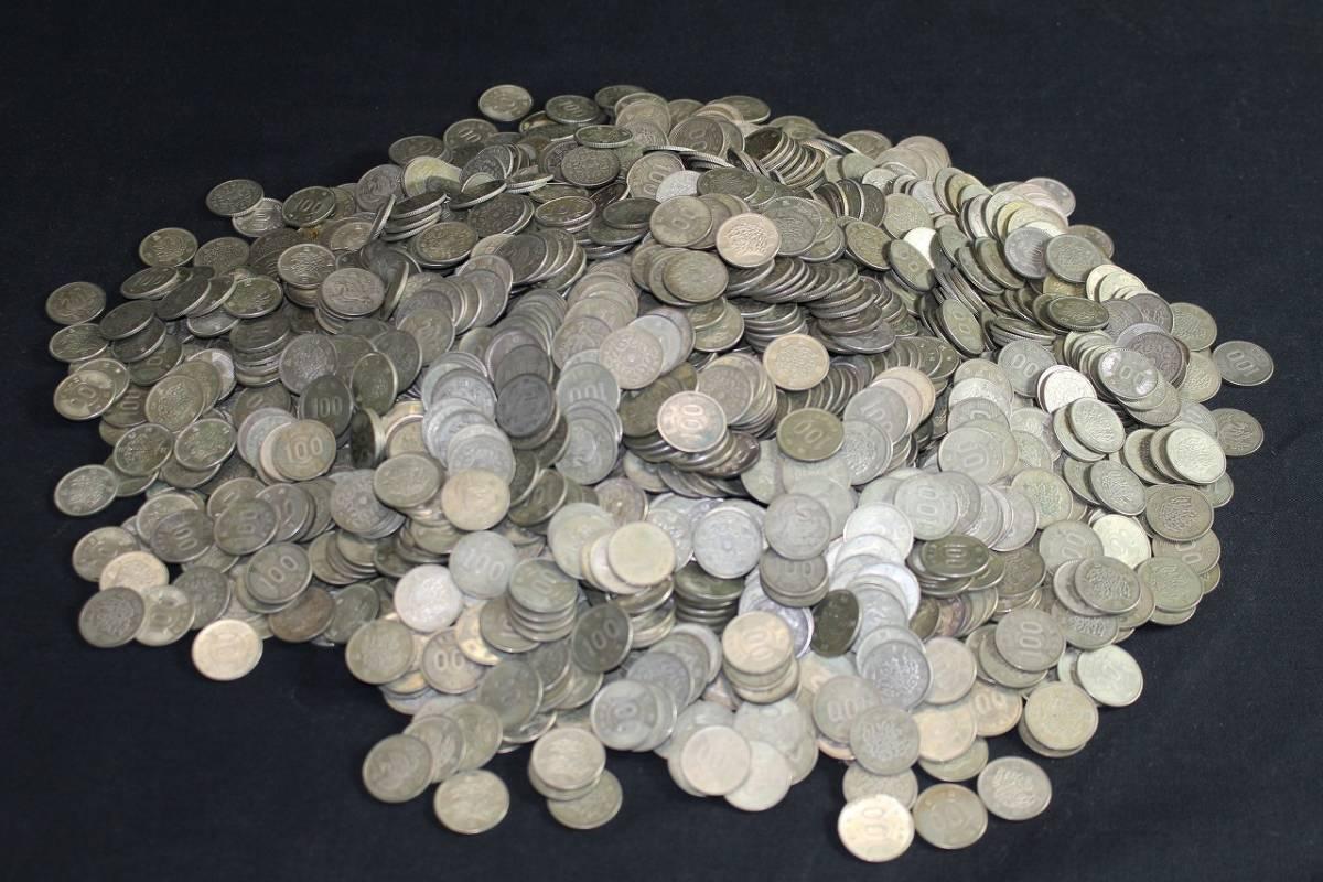6古u01404E 旧 100円 記念銀貨 2000枚 東京オリンピック 鳳凰 稲穂 記念硬貨 昭和