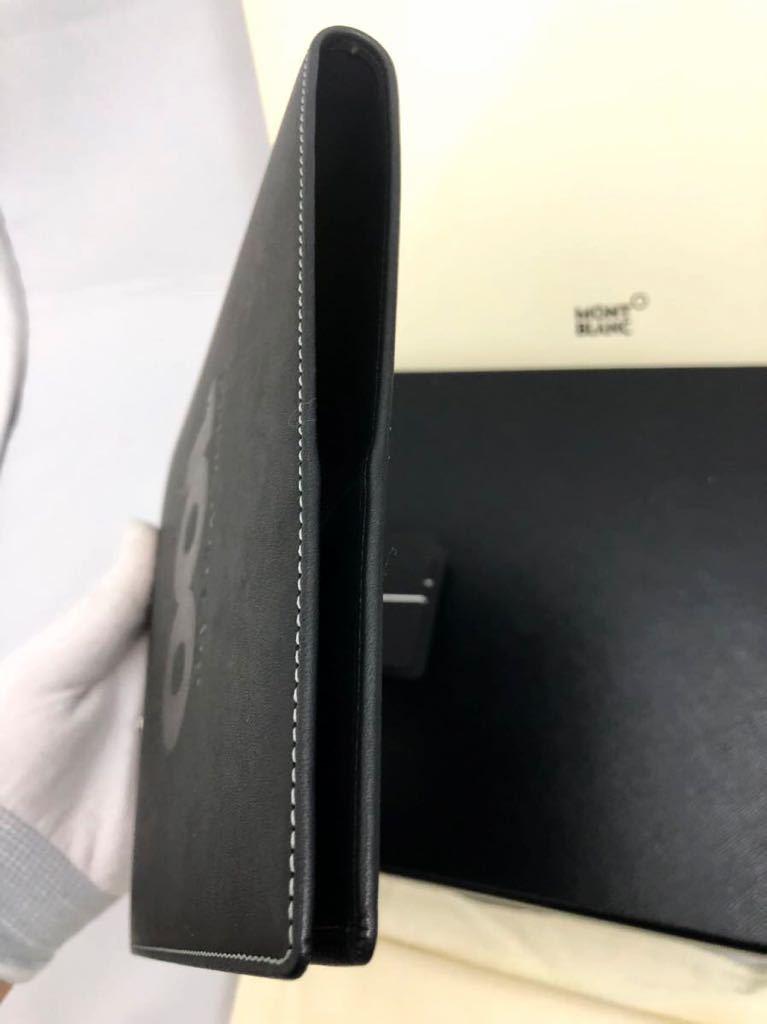 モンブラン 100周年 ブラック ノートカバー 未使用品 オルガナイザー ボールペン システム手帳 手帳カバー_画像7