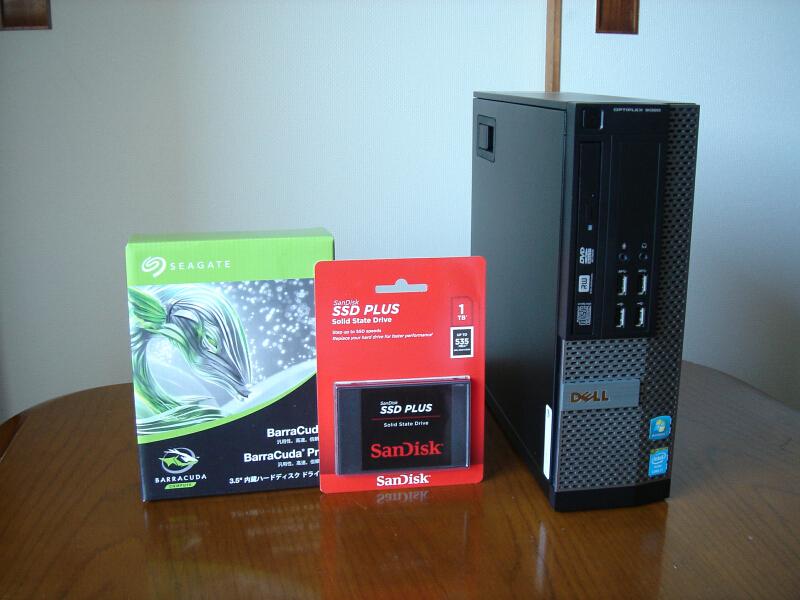 小型ハイスペック!Core i7-4770 最大3.90GHz×8 メモリ16GB 新品SSD1TB 新品HDD4TB 無線LAN Win10Pro Office2019 領収証発行可②