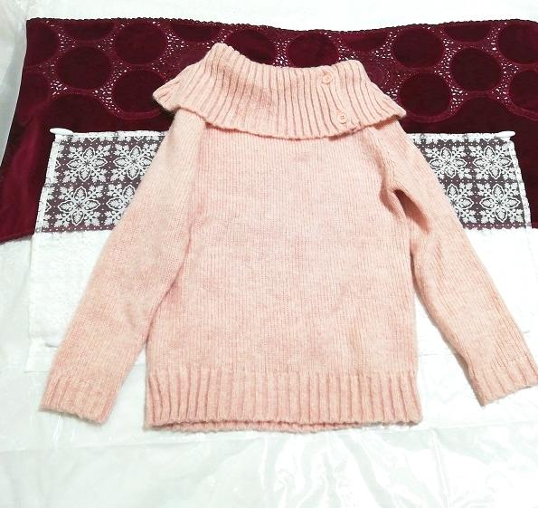 さくらピンクニットセーター Sakura pink knit sweater,ニット、セーター&長袖&Mサイズ