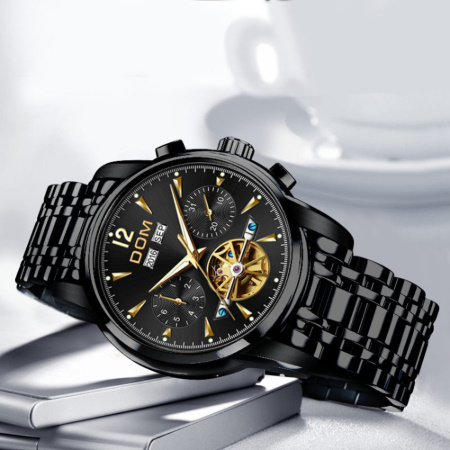 腕時計 メカニカル メンズ ウォッチ 自動巻き 男性 防水 レザーストラップ mt2260_画像2