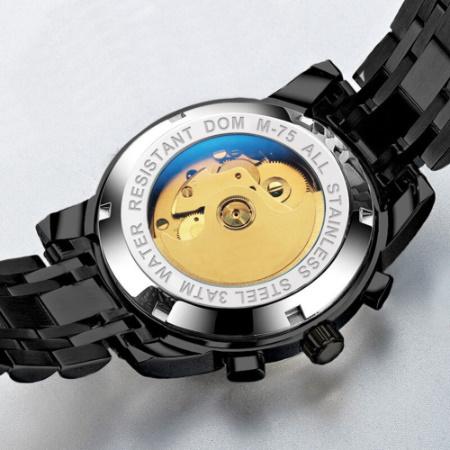 腕時計 メカニカル メンズ ウォッチ 自動巻き 男性 防水 レザーストラップ mt2260_画像4