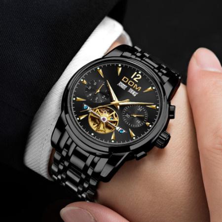 腕時計 メカニカル メンズ ウォッチ 自動巻き 男性 防水 レザーストラップ mt2260_画像3