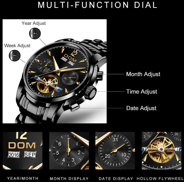 腕時計 メカニカル メンズ ウォッチ 自動巻き 男性 防水 レザーストラップ mt2260_画像5