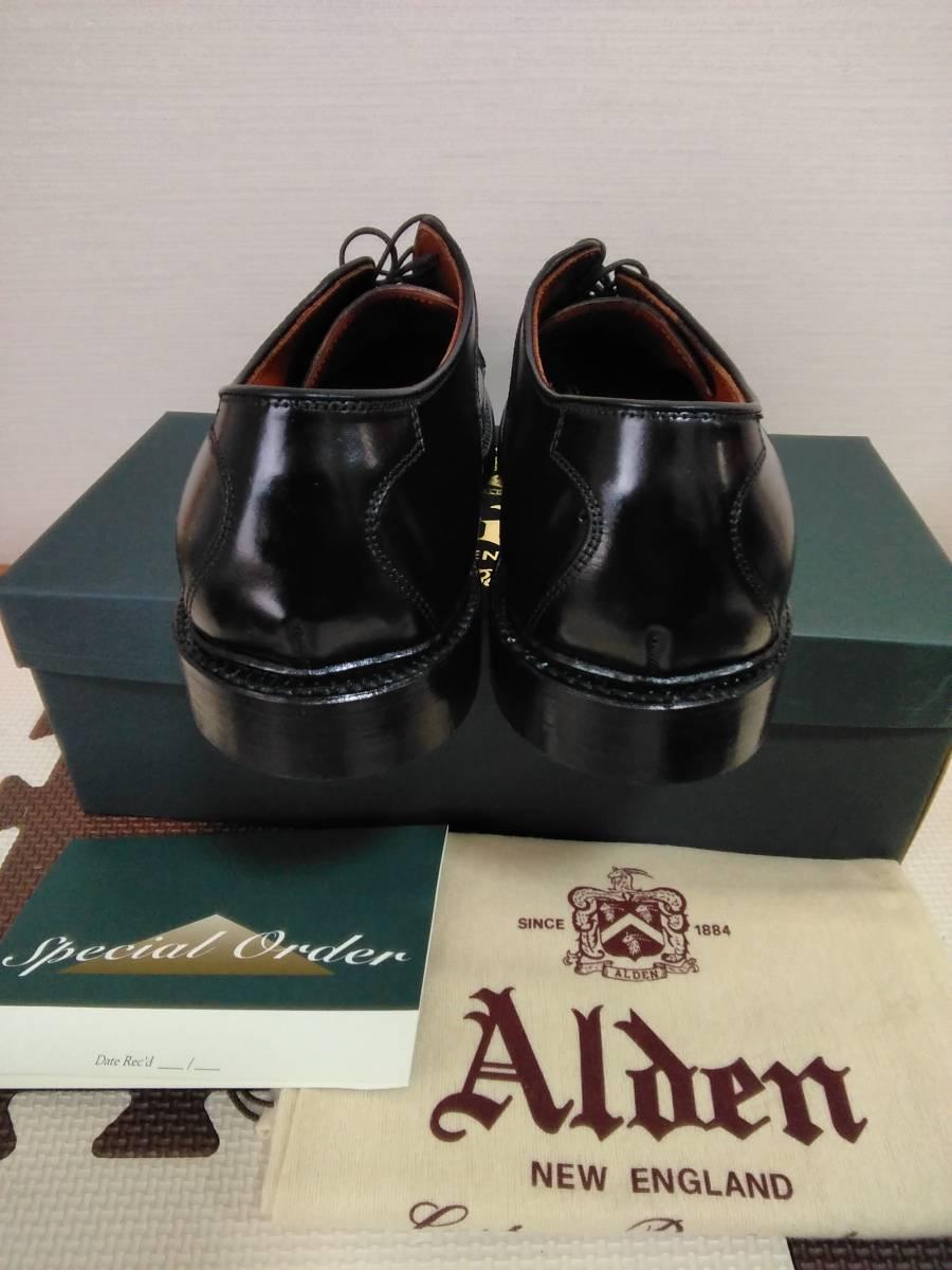 ALDEN オールデン D7618 ブラックコードバン バリーラスト 9.5D AOC90 NST サドル  543219909901_画像4