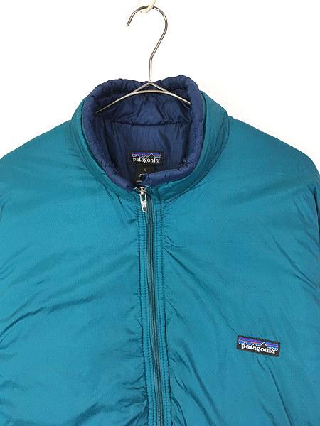 古着 90s USA製 Patagonia パタゴニア 人気 「パフボール」 フル ジップ 中綿 ナイロン ジャケット パッカブル L 古着_画像2