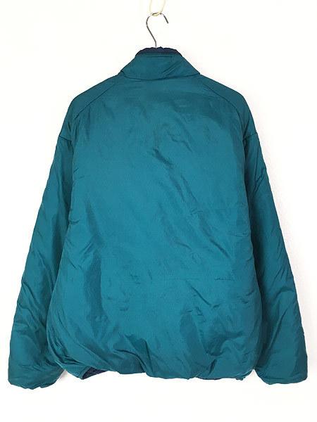 古着 90s USA製 Patagonia パタゴニア 人気 「パフボール」 フル ジップ 中綿 ナイロン ジャケット パッカブル L 古着_画像3