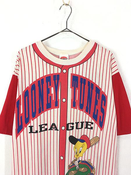 レディース 古着 90s Jhoto all Tolkr! LOONEY TUNES TWEETY トゥイーティー キャラクター ベースボール ロング丈 Tシャツ XL位 古着_画像3