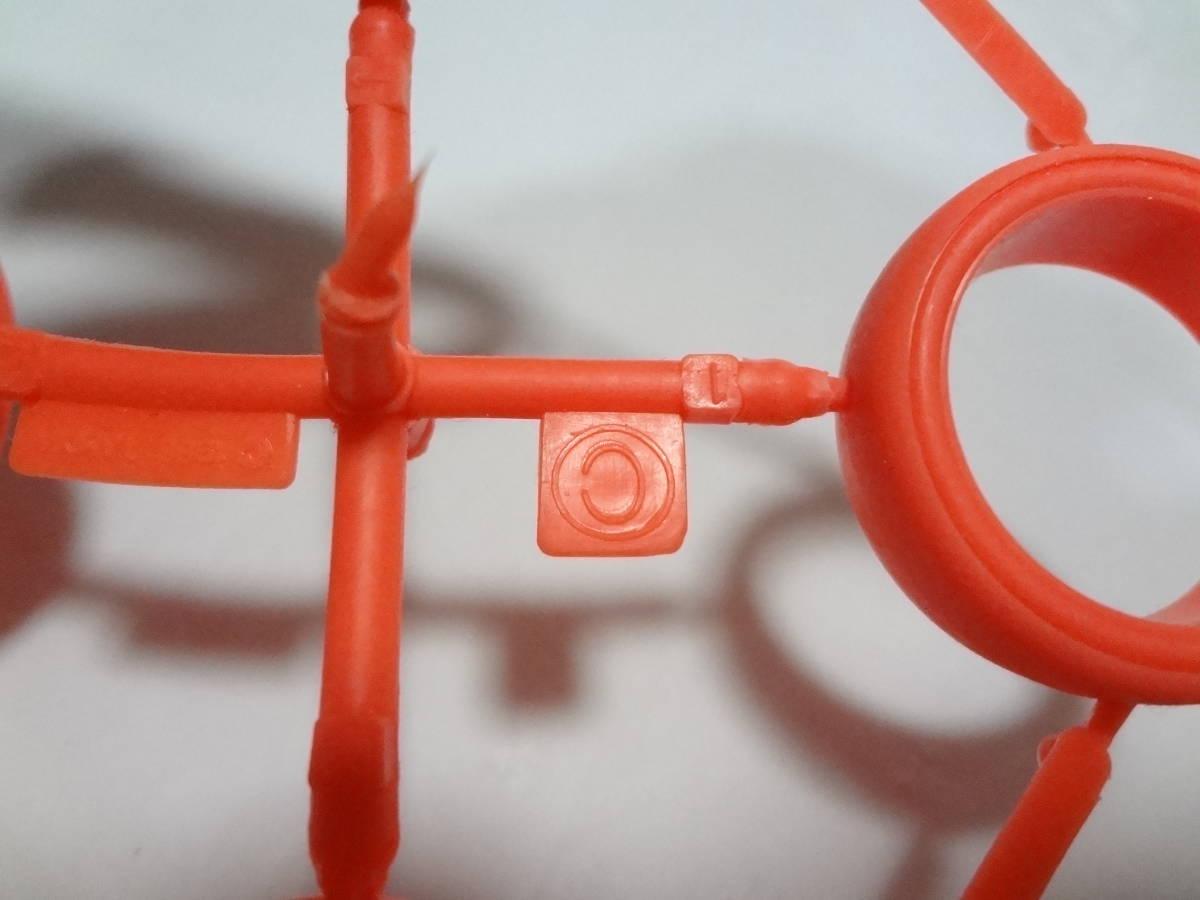 ★未使用 美品 タミヤ ミニ四駆 大径 スリックタイヤ 蛍光オレンジ 素材表記無し 旧ロット_画像3
