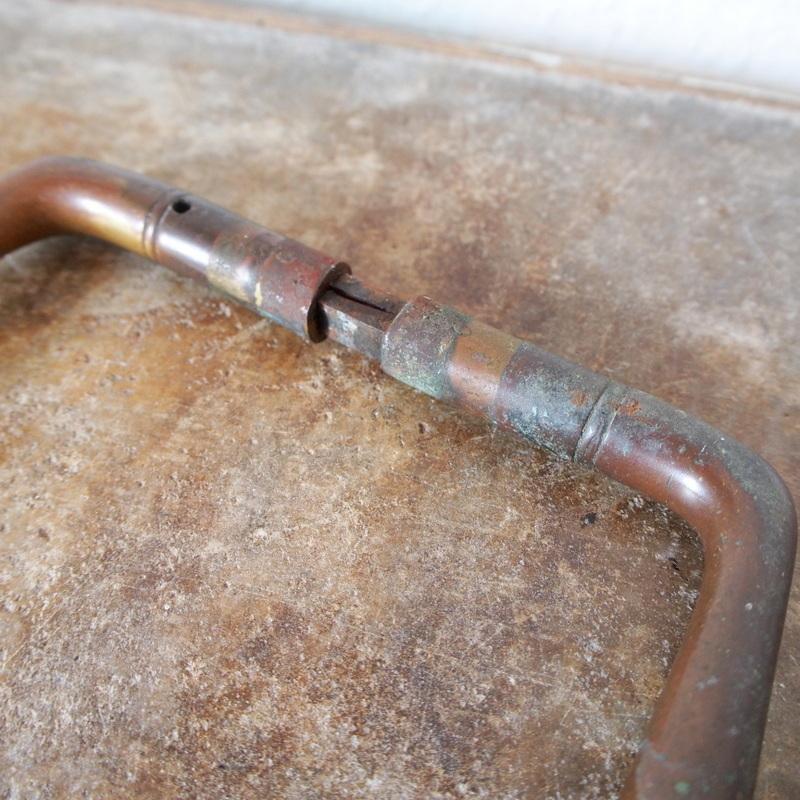 希少 ドイツ アンティーク 真鍮製ドアノブ 取っ手 ハンドル フック シャビー 工業系 バウハウス アールデコ 店舗什器 家具インダストリアル_画像6