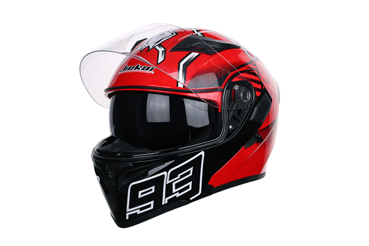 ダブルシールド JIE KAI 902赤色93 DOT認証システムヘルメット フリップアップヘルメット サイズ 選択 M-XL