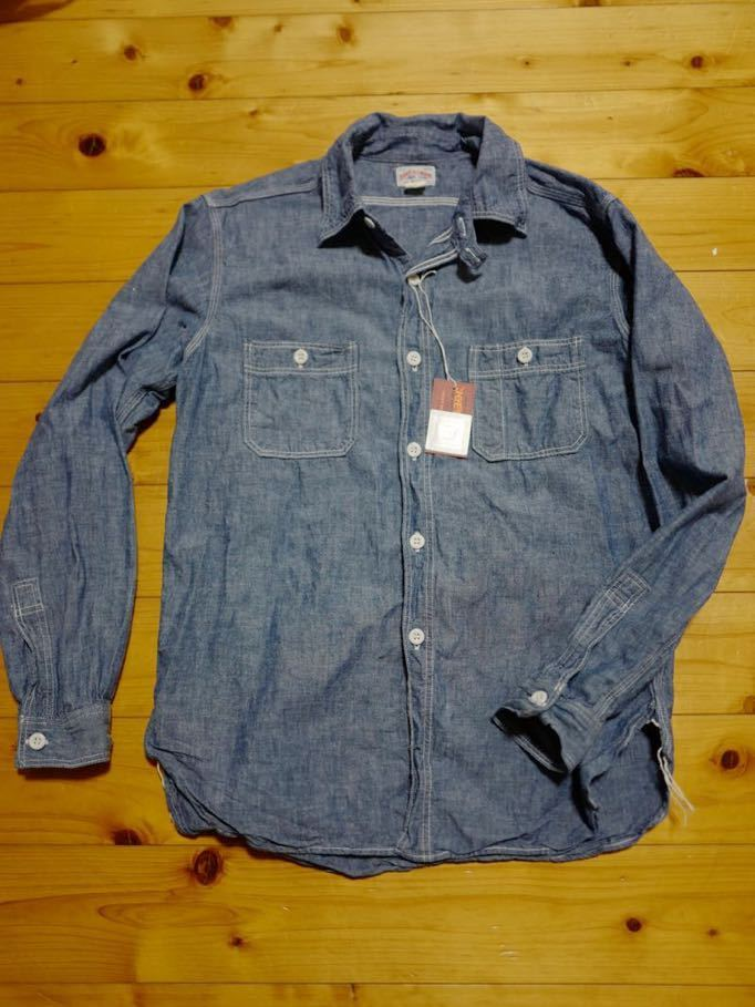 リアルマッコイズ 8HU シャンブレー サービスマン シャツ 長袖シャツ ワークシャツ MS19101