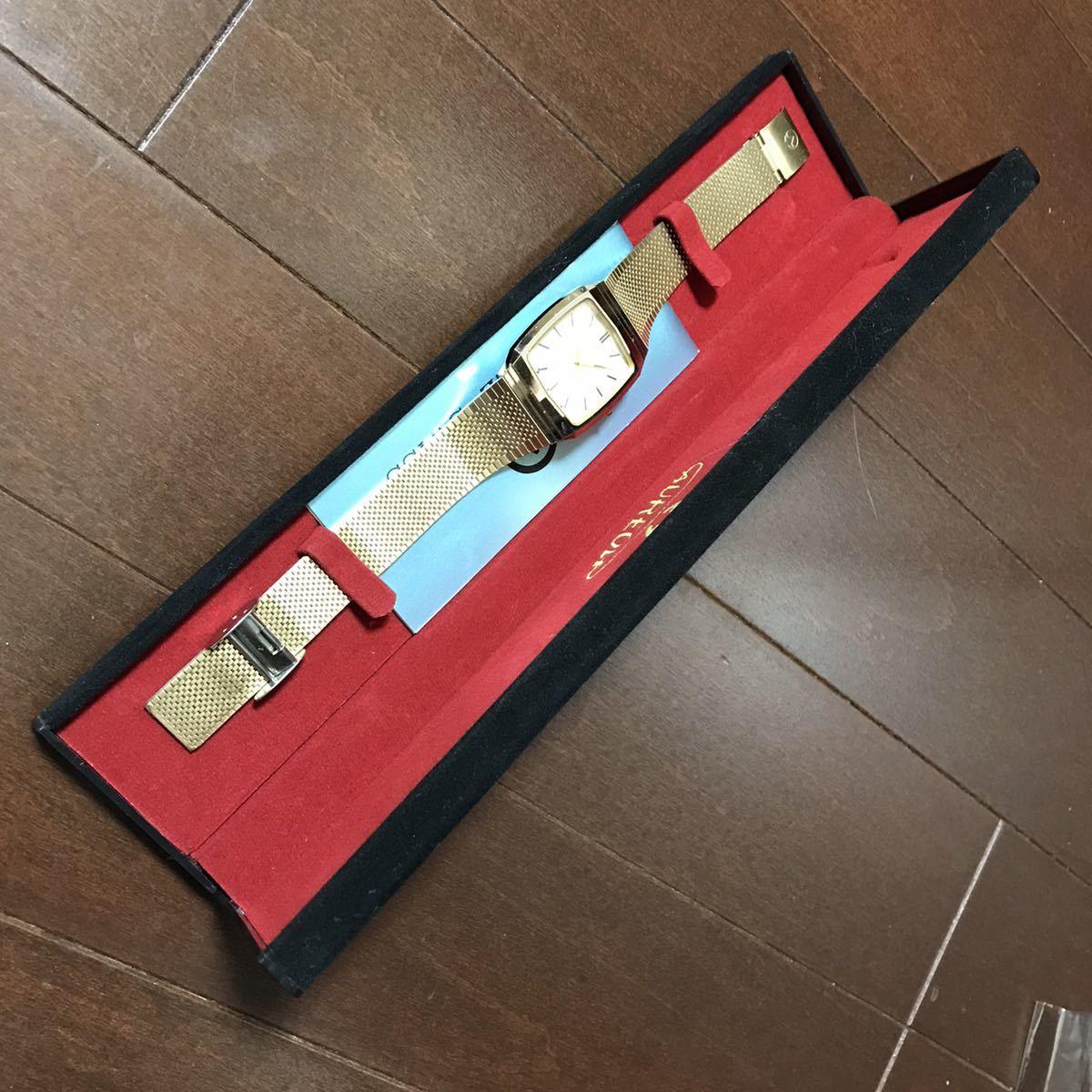 スイス AUREOLE メンズ クォーツ 腕時計 ジャンク品 送料無料_画像1