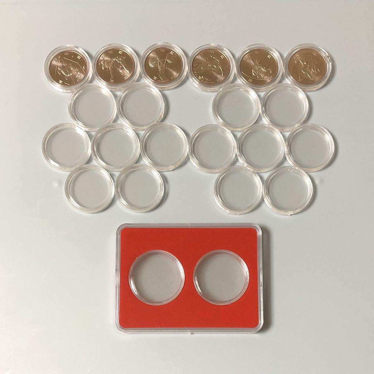 東京 2020 オリンピック 記念硬貨 第二次 コインカプセル付き コインケース付き_画像1