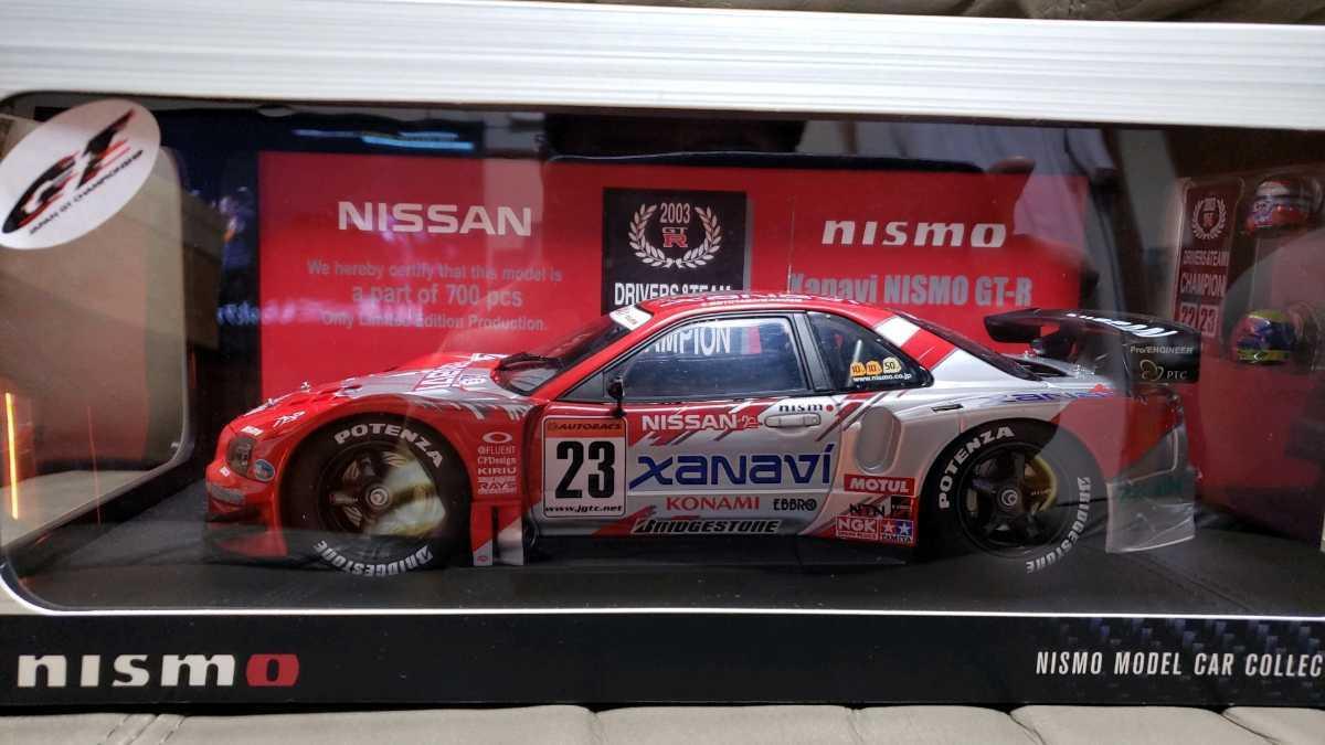激レア! TOKYO AUTO SALON 2006限定 AUTOart製 1/18 R34 GT-R『2003 JGTC GT500 XANAVI NISMO GT-R one of 700pcs』700台限定 超美品