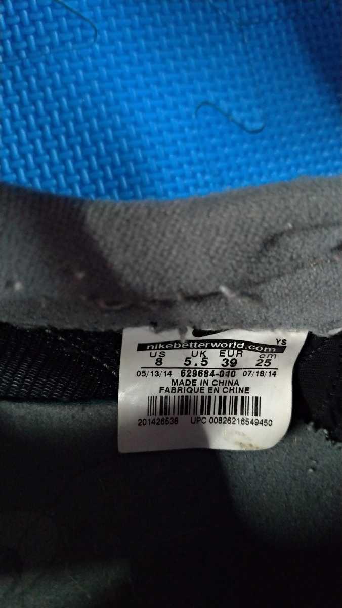 NIKE 黒 グレー 運動靴 25.0cm ナイキ スニーカー 箱無し_画像5
