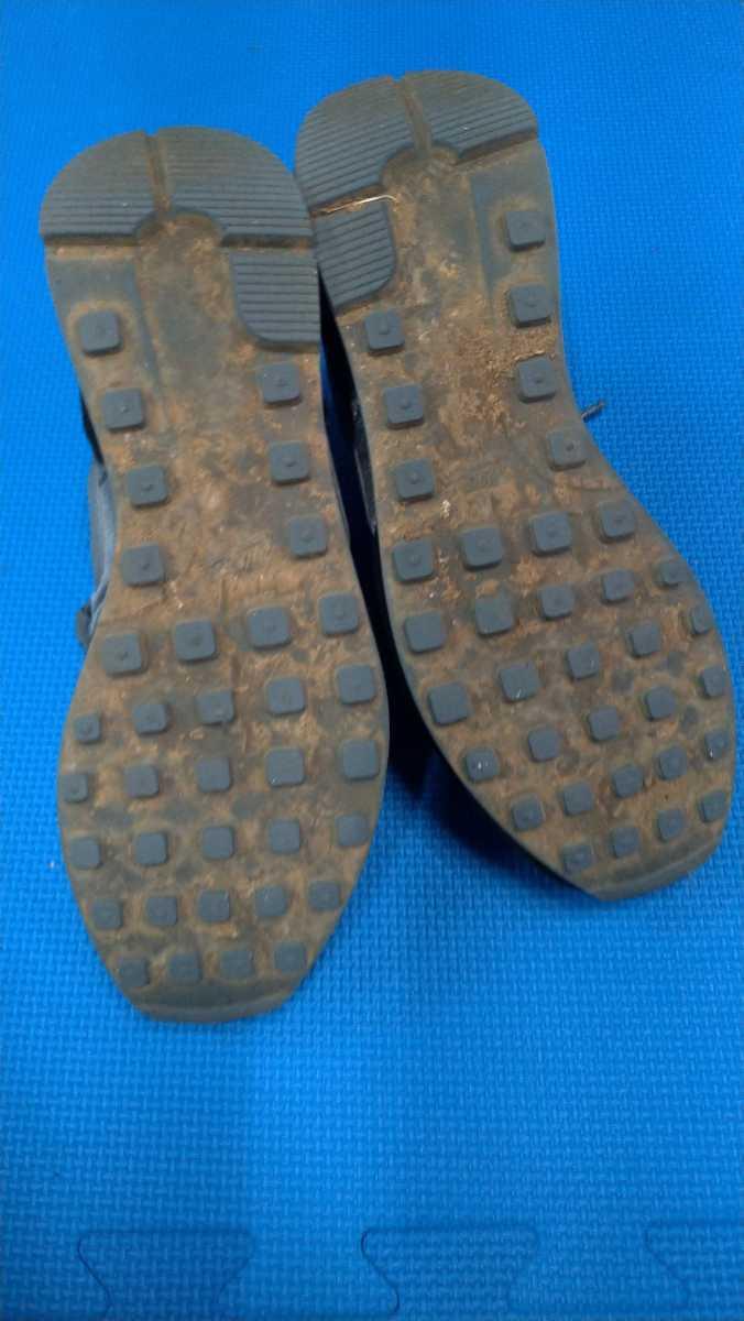 NIKE 黒 グレー 運動靴 25.0cm ナイキ スニーカー 箱無し_画像4