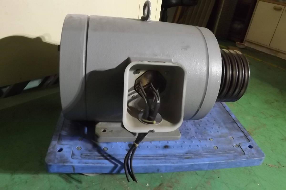日立 400V 22KW 中古 モーター モートル 30馬力 破砕機 送風機 エアー コンプレッサー 粉砕機 押出機_画像9