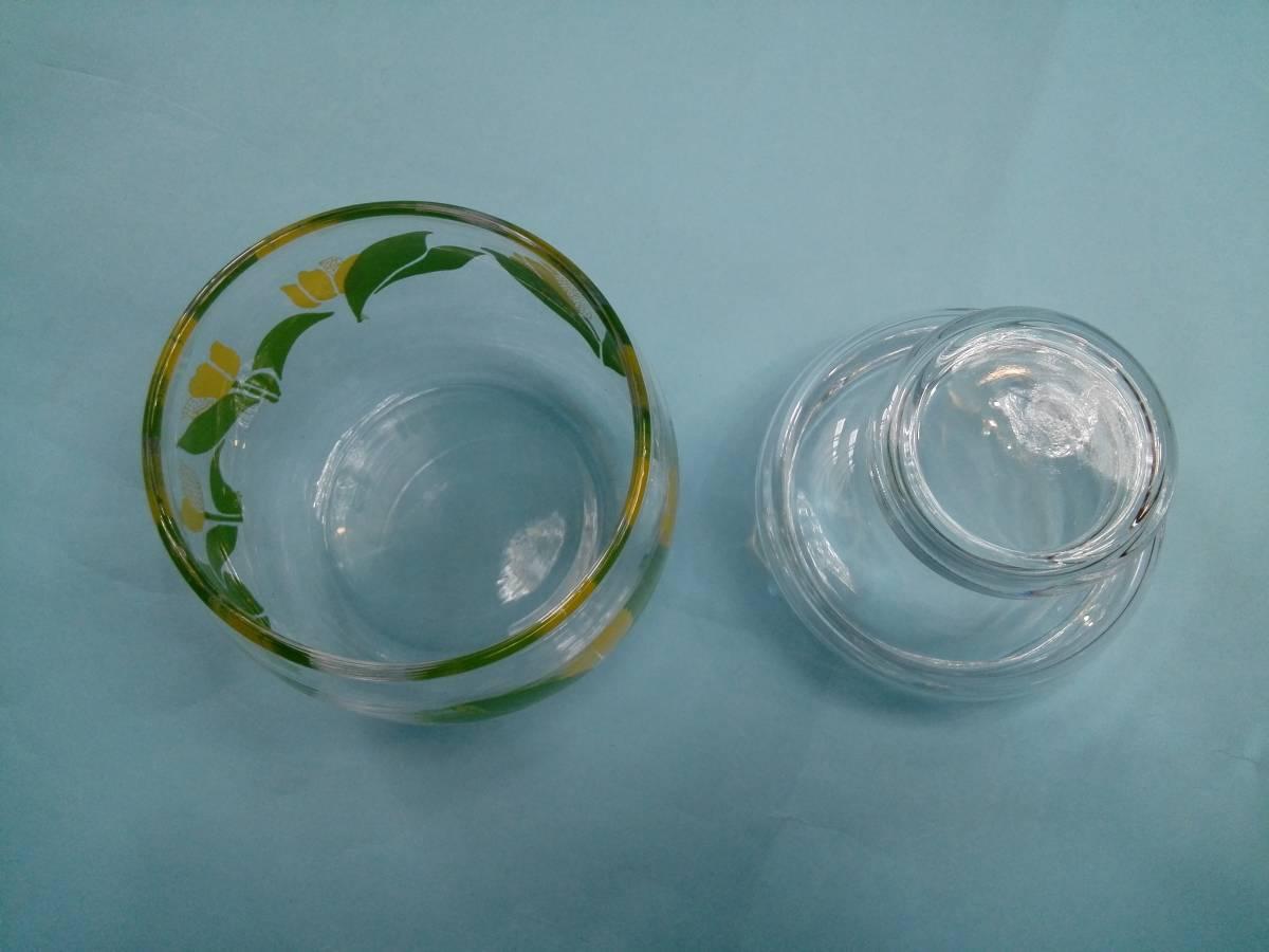 レトロポップ ガラス製 キャンディーポット キャニスター チュウリップ花柄_画像5