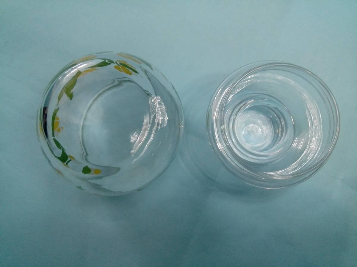 レトロポップ ガラス製 キャンディーポット キャニスター チュウリップ花柄_画像4
