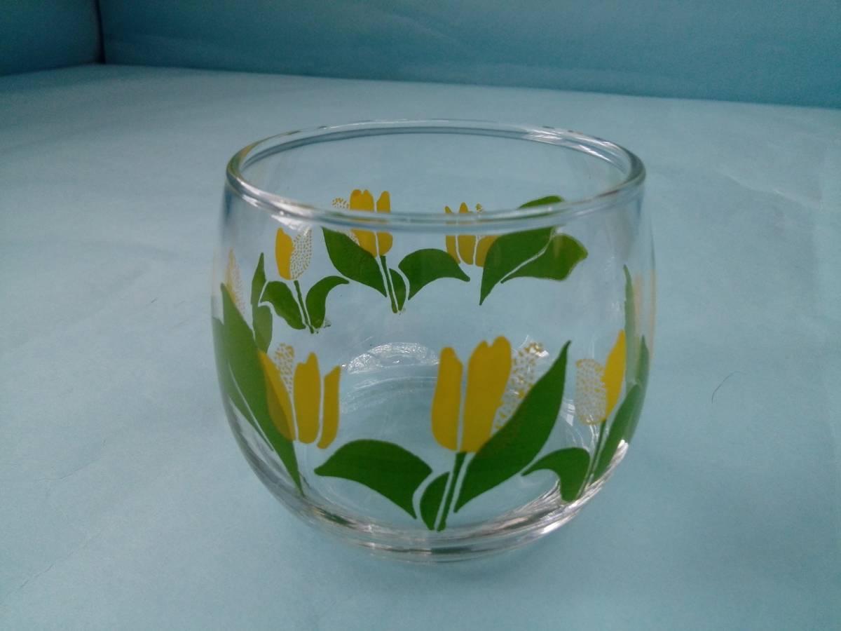 レトロポップ ガラス製 キャンディーポット キャニスター チュウリップ花柄_画像7