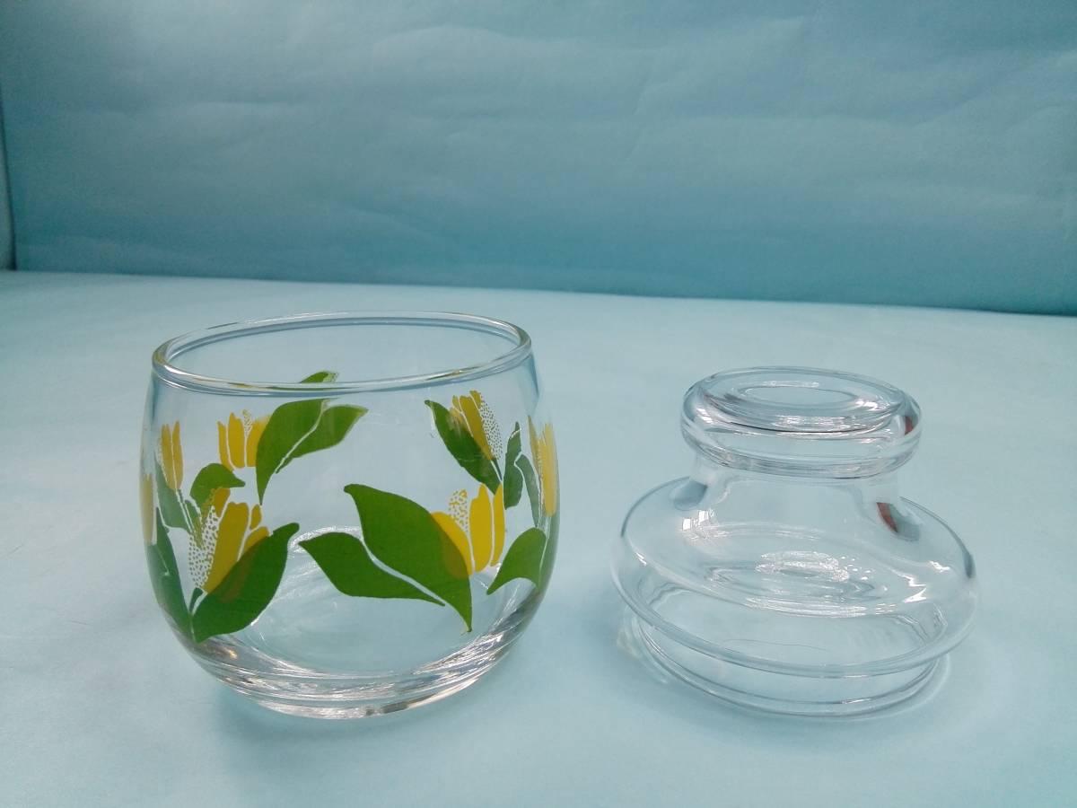 レトロポップ ガラス製 キャンディーポット キャニスター チュウリップ花柄_画像6
