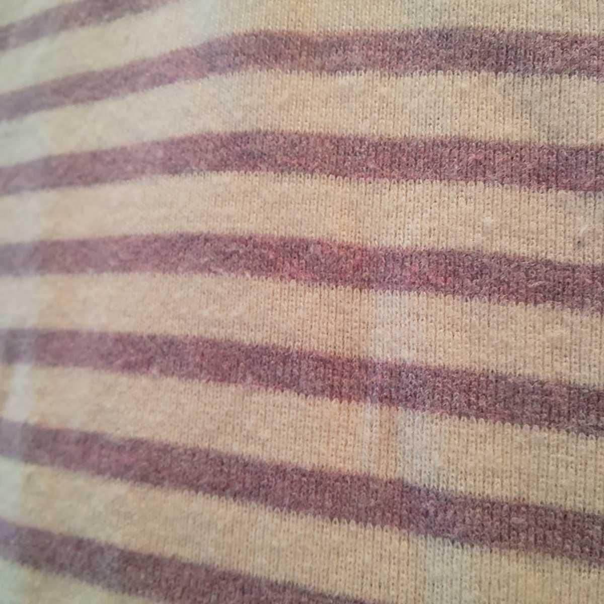 1円スタート! 110cm 長袖Tシャツ 西松屋チェーン キッズ服 女の子 保育園 幼稚園 私服 ボーダー ロンT 紫 akichan7777jp _画像4