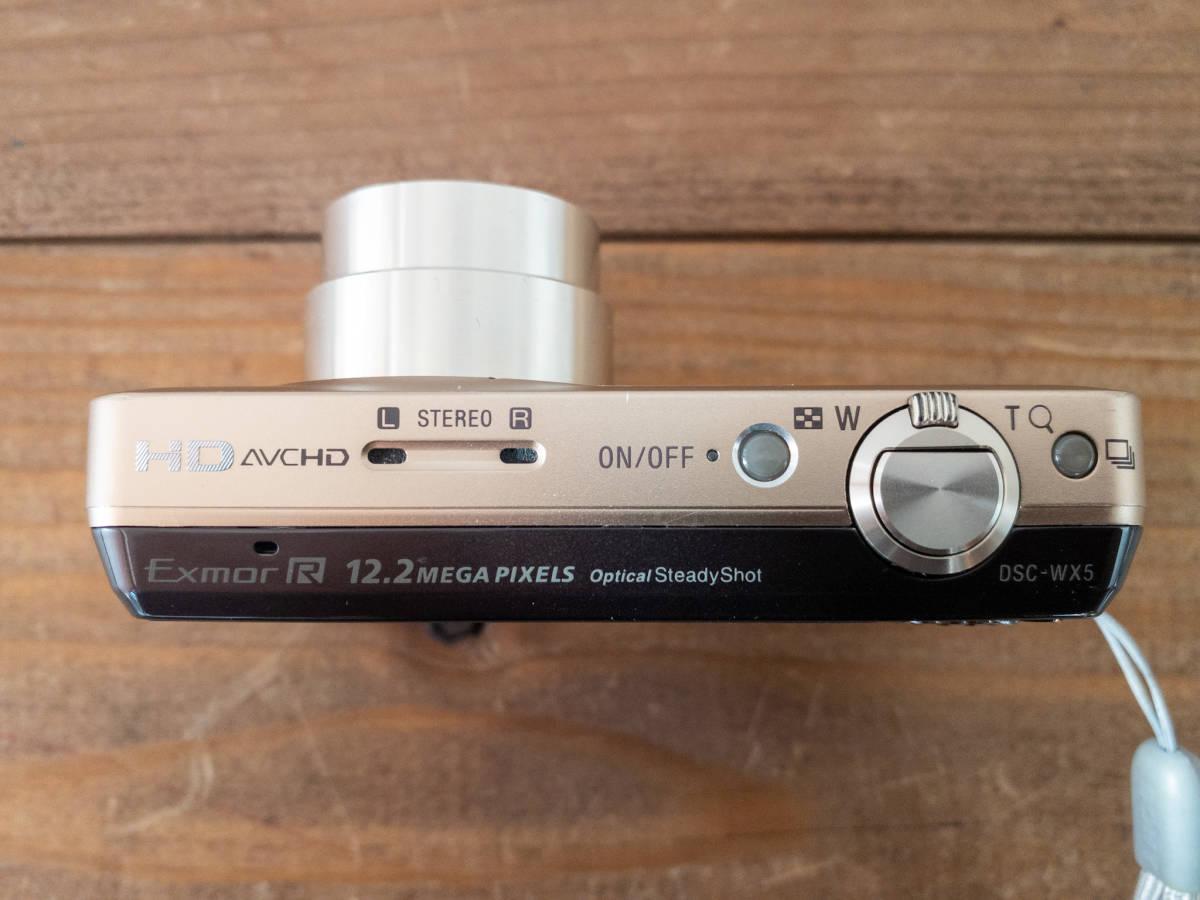【SONY】Cyber-shot DSC-WX5 デジタルスチルカメラ バッテリー1個+充電器付き_画像4