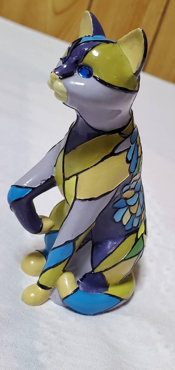 正規 TIFFANY&Co ティファニー wisteria アンティークキャット フィギュア 猫 置物 アニマルコレクション ペーパーウェイト フラワーアート
